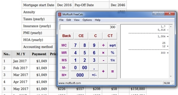 Mortgage comparison calculator: current 10, 15, 20 & 30 year fixed.